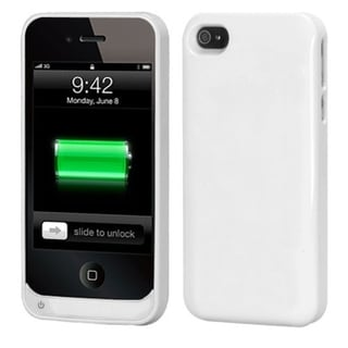 BasAcc White Quantum Energy Battery Case for Apple iPhone 4/ 4S