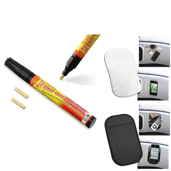 INSTEN Car Scratch Repair Pen/ 2-piece Sticky Anti-slip Mat