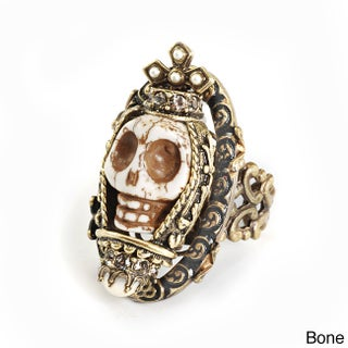 Sweet Romance Day of the Dead Sugar Skull Southwest Statement Ring