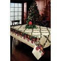Christmas Ornaments Pattern Textured Polyester Tablecloth