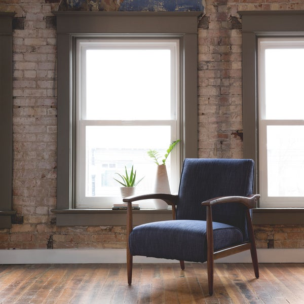 Gracie Retro Indigo Arm Chair