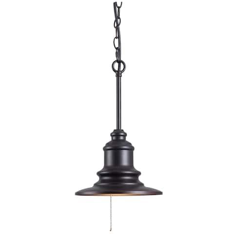 Visp Blackened Oil Rubbed Bronze 1-light Outdoor Pendant