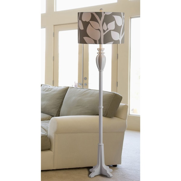 Wayland 1-light White Floor Lamp