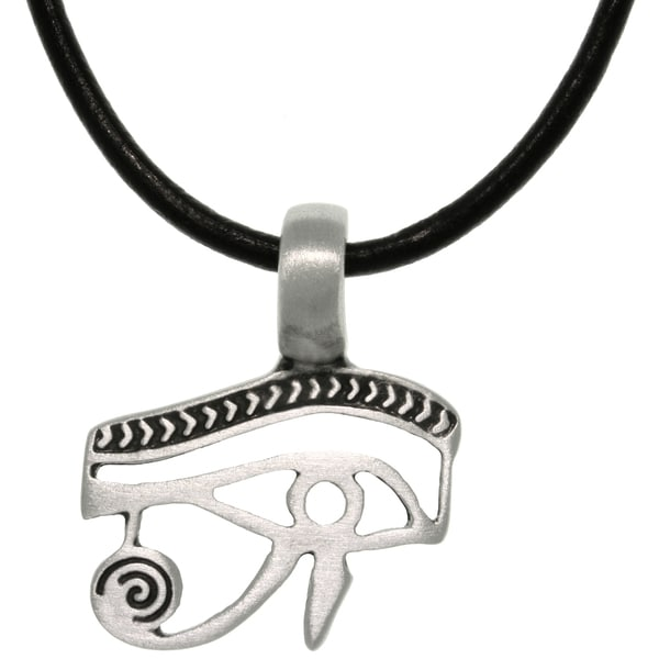 Pewter/ Leather Eye of Horus Necklace