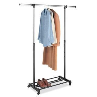 Whitmor 6021-575 Deluxe Chrome/ Ebony Adjustable Garment Rack