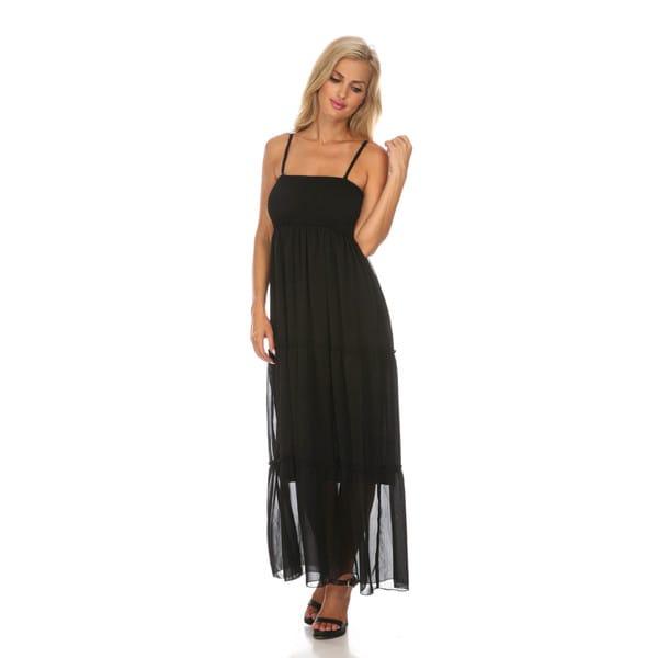 White Mark Women's 'Miconos' Sleeveless Chiffon Maxi Dress
