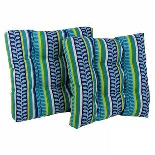 Blazing Needles 19-inch Spun Poly Outdoor Chair/ Rocker Cushions (Set of 2)