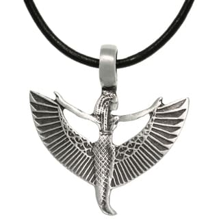 Carolina Glamour Collection Pewter/ Leather Goddess Maat Necklace