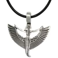 Pewter/ Leather Goddess Maat Necklace
