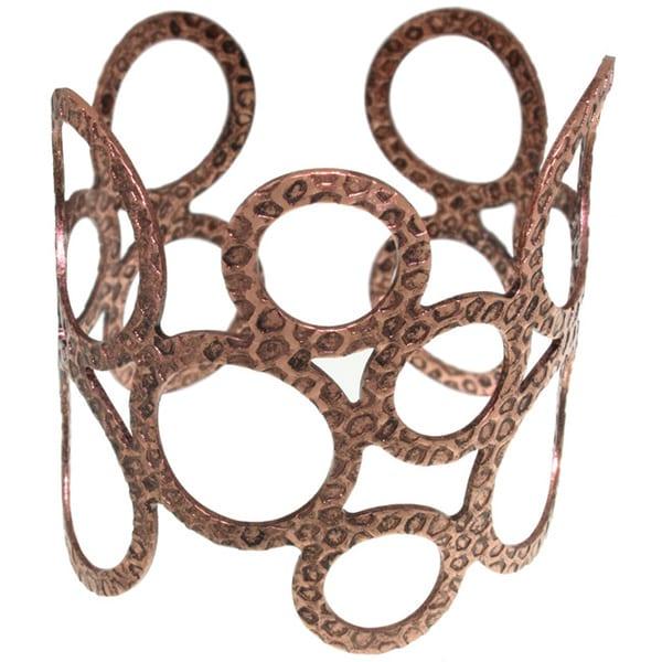 Carolina Glamour Collection Coppertone Open Circle Cuff Bracelet