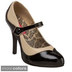 Bordello Tempt-07 Women's 4.5-inch Heel 2-tone Maryjane with Concealed Platform