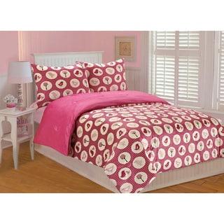 Annie Birds Printed Microplush 3-piece Comforter Set