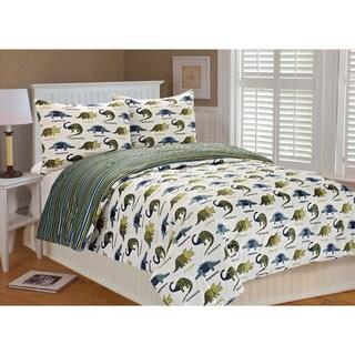 Max Dinosaur Puzzle Microplush 3-piece Comforter Set