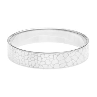 Calvin Klein Stainless Steel Pebbled Design Bangle Bracelet