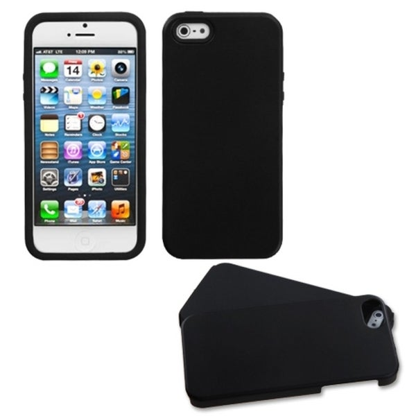 BasAcc Black Rubberized Fusion Case for Apple® iPhone 5