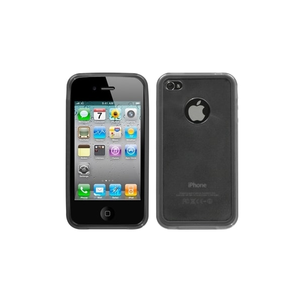 INSTEN Transparent Smoke Gummy Phone Case Cover for Apple iPhone 4/ 4S