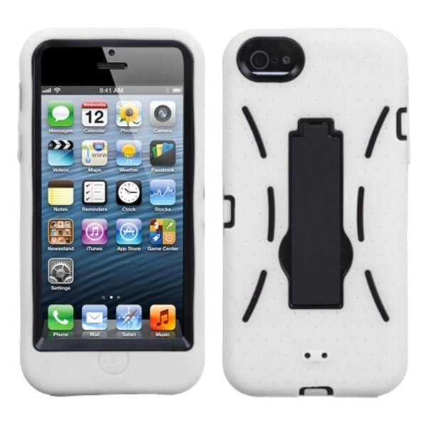 BasAcc Black/ White Symbiosis Stand Case for Apple® iPhone 5