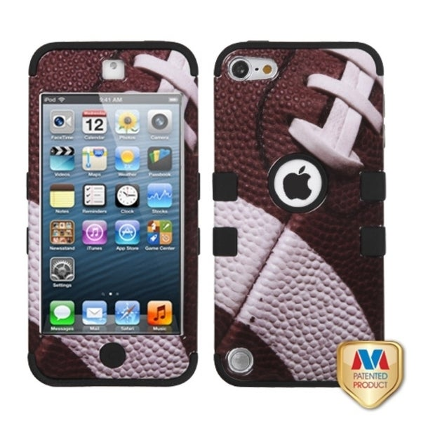 Insten Brown/ Black Football Tuff Hard PC/ Silicone Dual Layer Hybrid Glossy Case Cover For Apple iPod Touch 5th/ 6th Gen. Opens flyout.