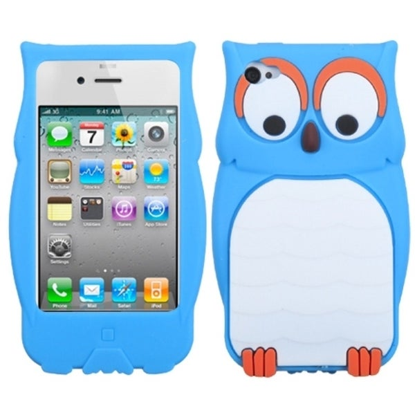 INSTEN Blue Owl Pastel Skin Phone Case Cover for Apple iPhone 4/ 4S