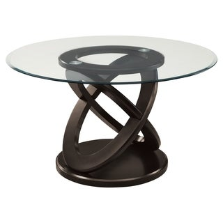 Nice Dark Espresso 48 Inch Tempered Glass Dining Table