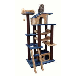 Kitty Mansions Mini Amazon Blue Cat Tree Furniture