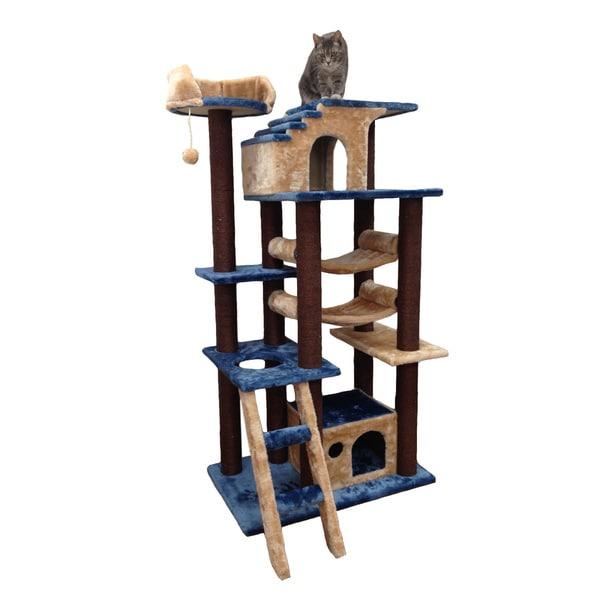 Kitty Mansions Mini Amazon Blue Cat Tree Furniture