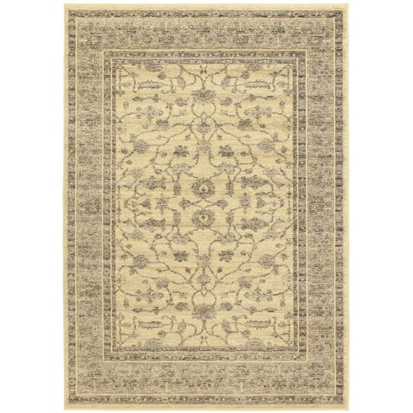 Classic Lotus Cream Floral Rug Rectangular (6'7 x 9'6)