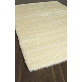 Labrador White White Abstract Shag Rectangular (6'7 x 9'6)