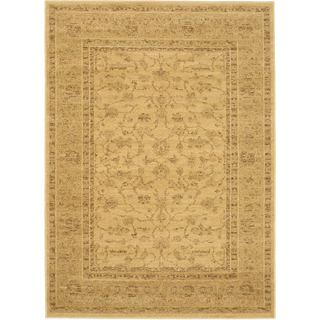 Golden Lotus Light Gold Open Field Rug Rectangular (4'7 x 6'5)