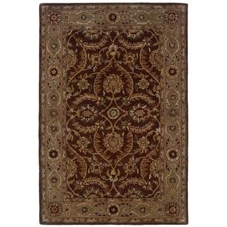 LNR Home Heritage Medium Brown/ Beige Oriental Rug (7'9 x 9'9) - 7'9 x 9'9