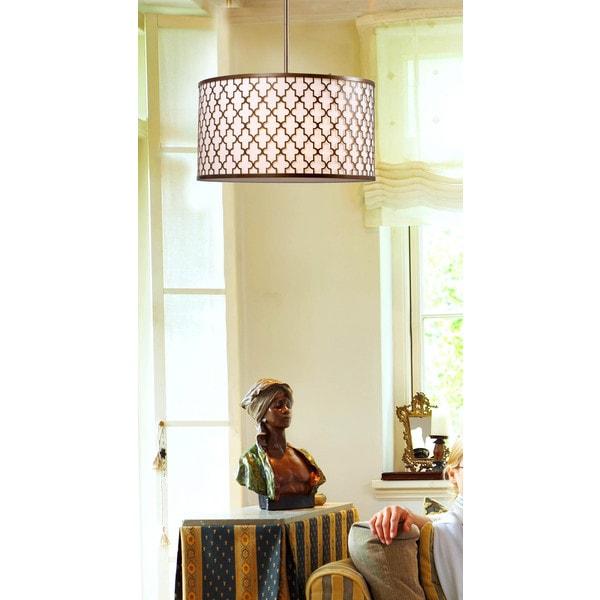Design Craft Voiron 3-light Antique Golden Bronze Pendant