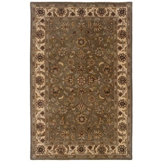 LNR Home Heritage Green/ Ivory Oriental Area Rug (7'9 x 9'9) - 7'9 x 9'9