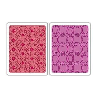 Sizzix Textured Impressions Embossing Folders Flower Vine/ Twizzle Set (2 Pack)