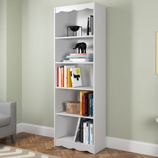 Sonax Hawthorn Frost White 72-inch Tall Bookcase