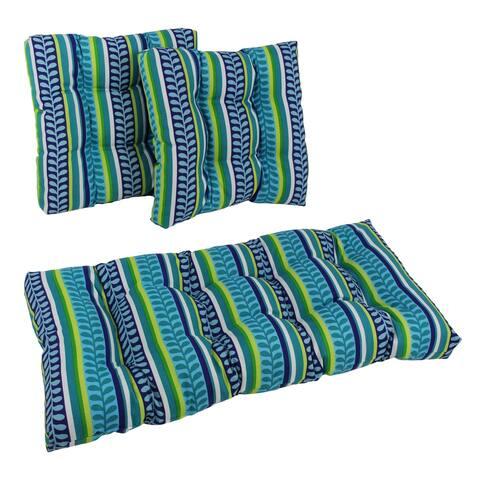 Blazing Needles 3-piece Indoor/Outdoor Settee Cushions - 19 x 19/19 x 42