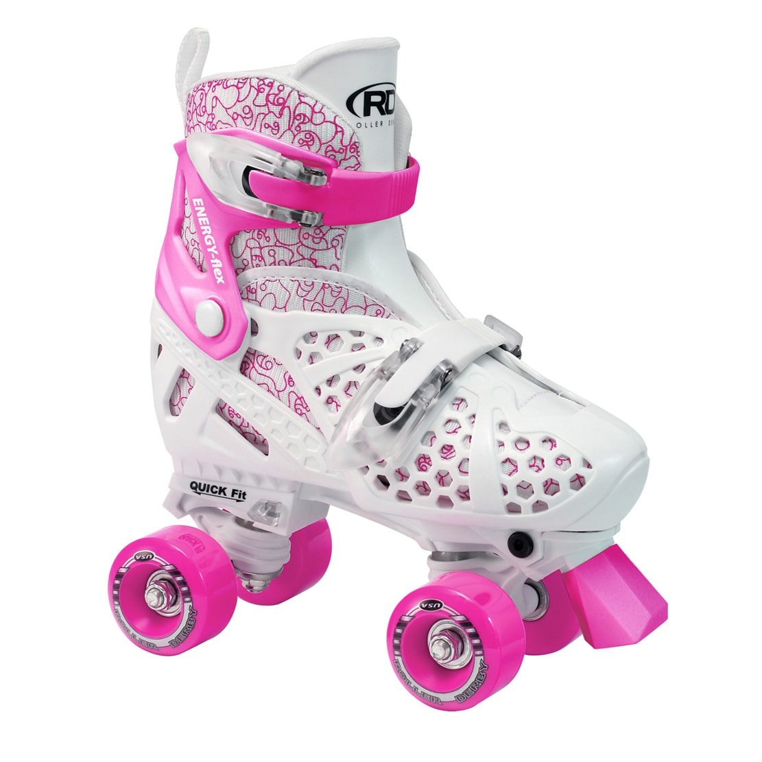 Trac Star Youth Girl's Adjustable Roller Skate (Medium), ...