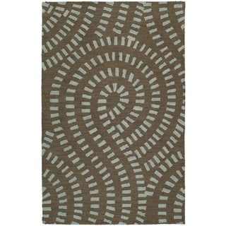 Zoe Blue Hand-tufted Wool Rug (2' x 3') - 2' x 3'