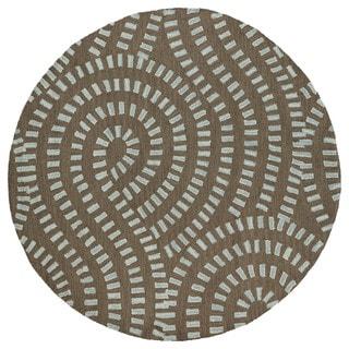 Zoe Blue Hand-tufted Wool Rug (7'9 Round)