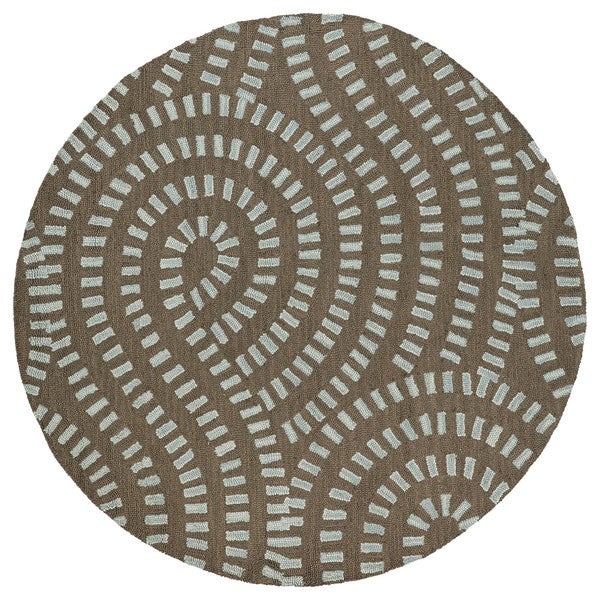 Zoe Blue Hand-tufted Wool Rug (7'9 Round)