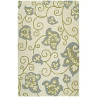 Zoe Whimsy Ivory Hand-tufted Wool Rug - 5' x 7'9