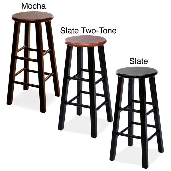 Round Wood Bar Stools Set Of 2 Free Shipping Today