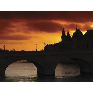 Ideal Decor 'Stone bridge at Sunset' Wall Photomural