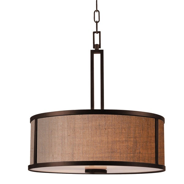 Pine Canopy Lincoln 3-light Aged Bronze Pendant