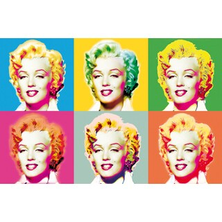 Ideal Decor 'Visions of Marilyn' Wall Mural
