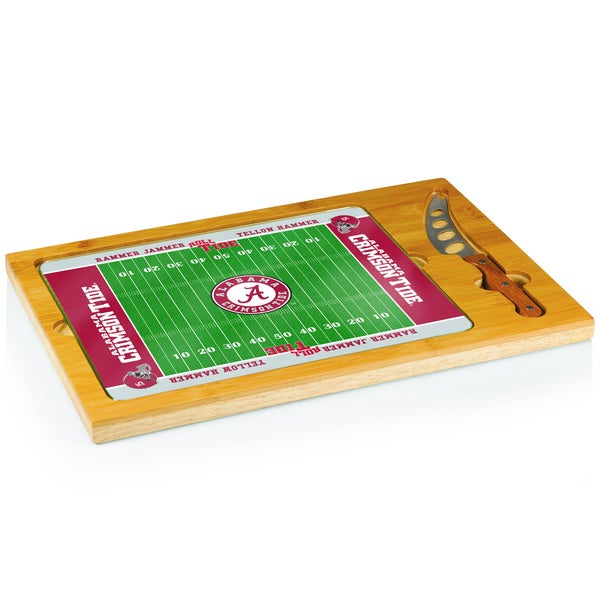 Football Icon University of Alabama Crimson Tide Cheese Tray - Brown