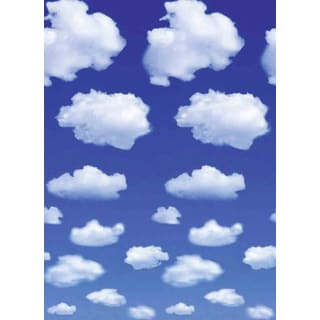 Ideal Decor 'White Clouds' Wall Mural
