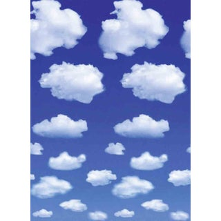 Ideal Decor 'White Clouds' Wall Mural (As Is Item)