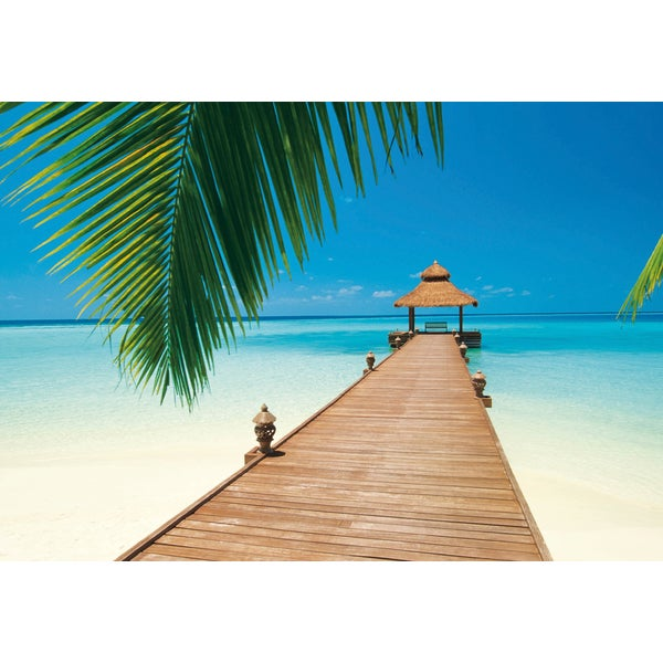 Shop Ideal Decor Paradise Beach Wall Mural Free Shipping Today