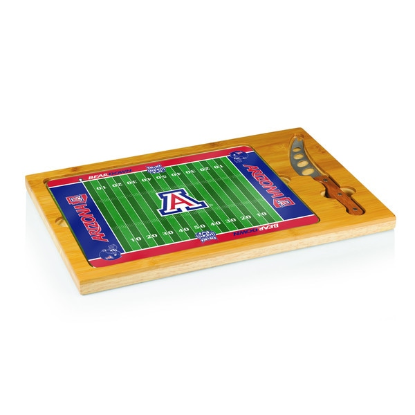 Football Icon University of Arizona Wildcats Cheese Tray - Brown