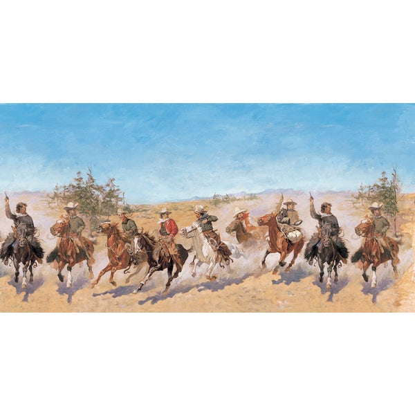 Brewster 'Charging Riders' Wall Mural